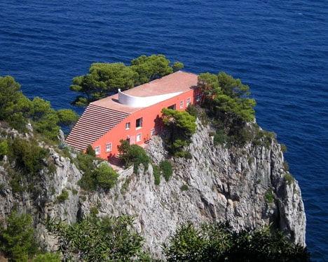 Casa Malaparte (Villa Malaparte) en Capri. Italia. Arquitecto: Adalberto Libera (1938-1943)