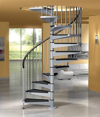 Escaleras caracol arkiplus for Modelos puertas metalicas para casas