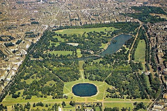 Hyde Park de Londres, el pulmón d ela ciudad.