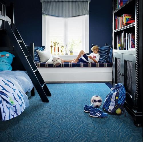 dormitorio niños azul