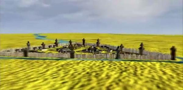 La aldea de Moscú o Moscova en el 1200.