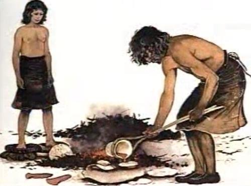 Fundiendo el cobre a finales del neolítico en el 3000 a.C.