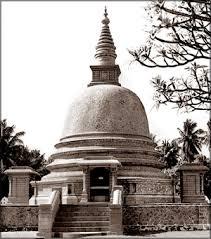 Estupa en Sri Lanka.