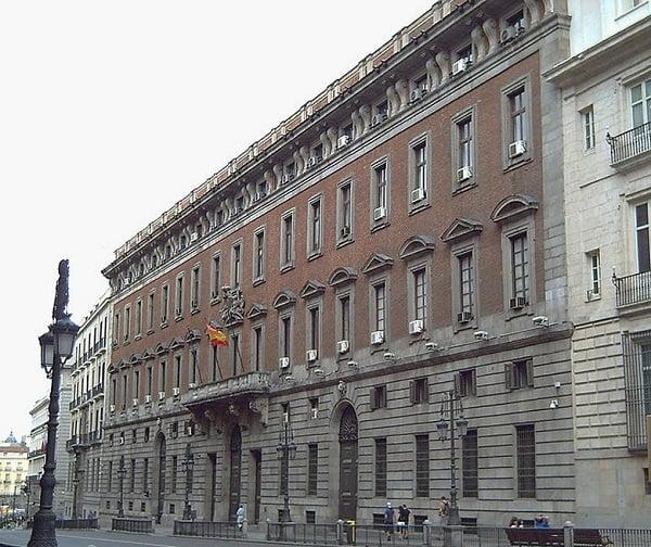 Ministerio de Hacienda de Madrid.