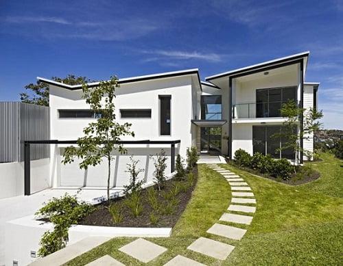 fachadas de casas blancas arkiplus