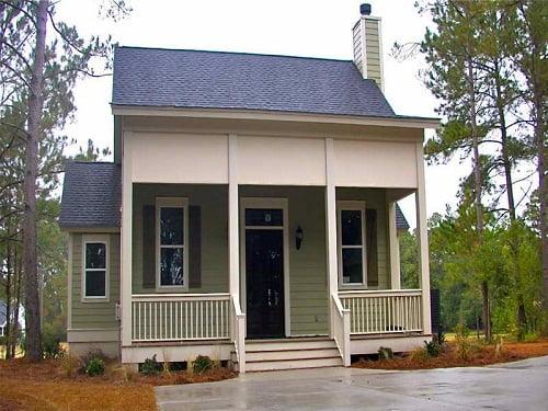 Típica casa americana de madera.