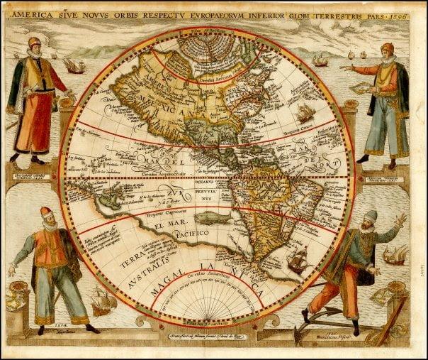 Historia de la cartografía y del diseño de mapas – Arkiplus Theodore De Bry