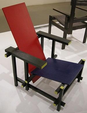 La silla Gerrit Rietveld de 1917.