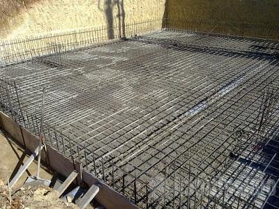 Horizontal, flexionada y el plano como la losa de cimentación o puestos.