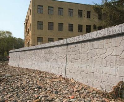 Vertical, flexionada y planas como muros de contención