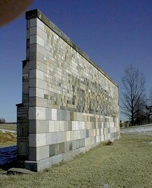 Vertical, comprimido y plana como muros, paredes, tabiques