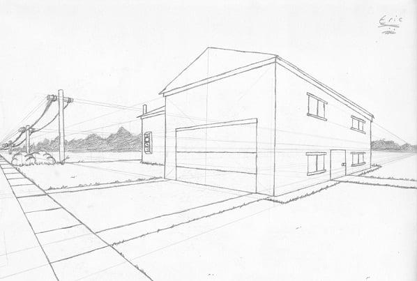 Fachadas de casas dibujo t cnico - Dibujos de casas modernas ...