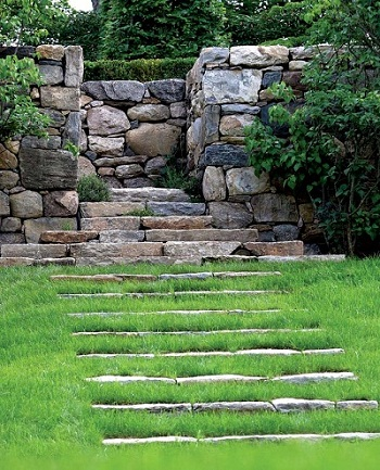 Construir paredes de piedra - Piedra para pared exterior ...