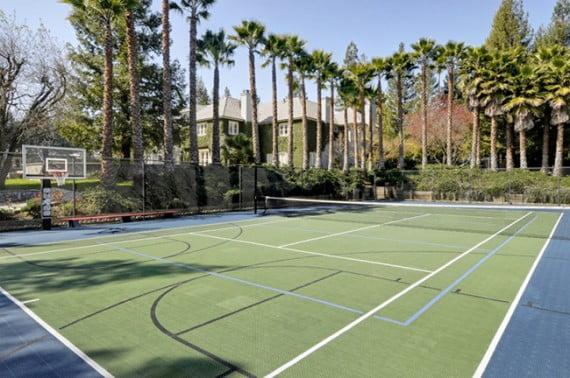 Cancha de tenis exterior.