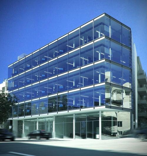 Fachadas modernas de edificios arkiplus for Fachadas oficinas modernas