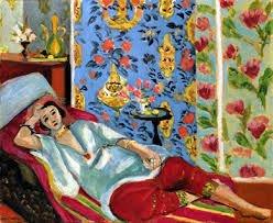 Matisse: Odalisca en pantalones rojos.
