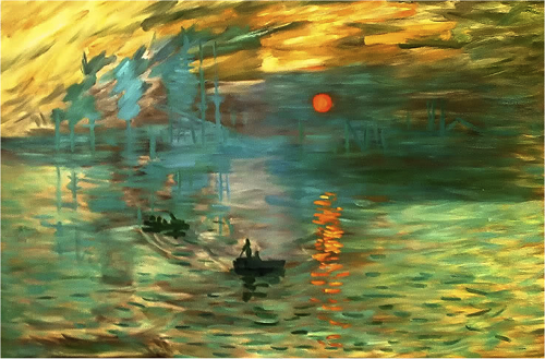 an analysis of monets painting impression sunrise Discusses the art print impression, sunrise by claude monet.
