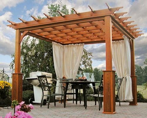 P rgolas de madera arkiplus - Construccion de pergolas de madera ...