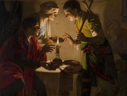 """Esaú vendiendo su primogenitura"" 1624. – Museo Thyssen-Bornemisza de Madrid."