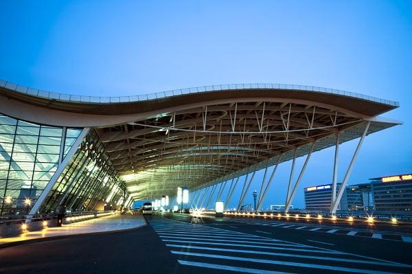 El aeropuerto de Pudong.