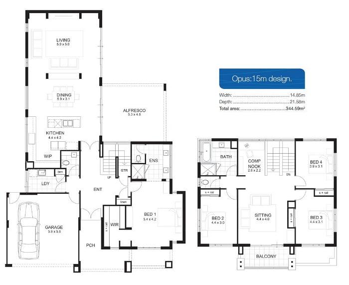 Dise os de casas de dos pisos arkiplus for Casa de dos plantas construyehogar