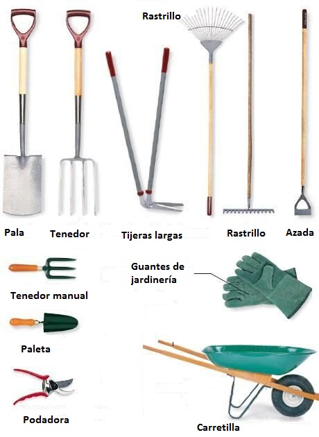 Herramientas manuales para jardiner a arkiplus - Materiales de jardineria ...