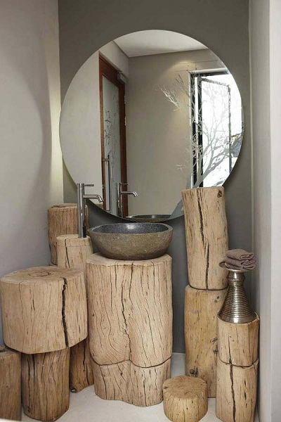 imagenes de muebles hechos de troncos