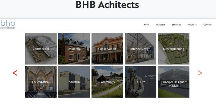 portafolios de un estudio de arquitectura