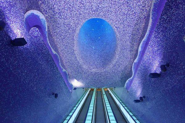 Estación de metro Toledo, en Nápoles.