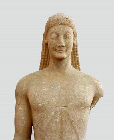 Kouros ejemplo de escultura arcaica griega